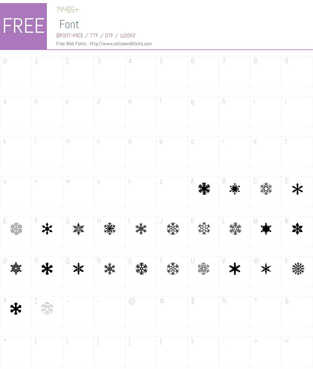 ryp_sflake6 Font Screenshots