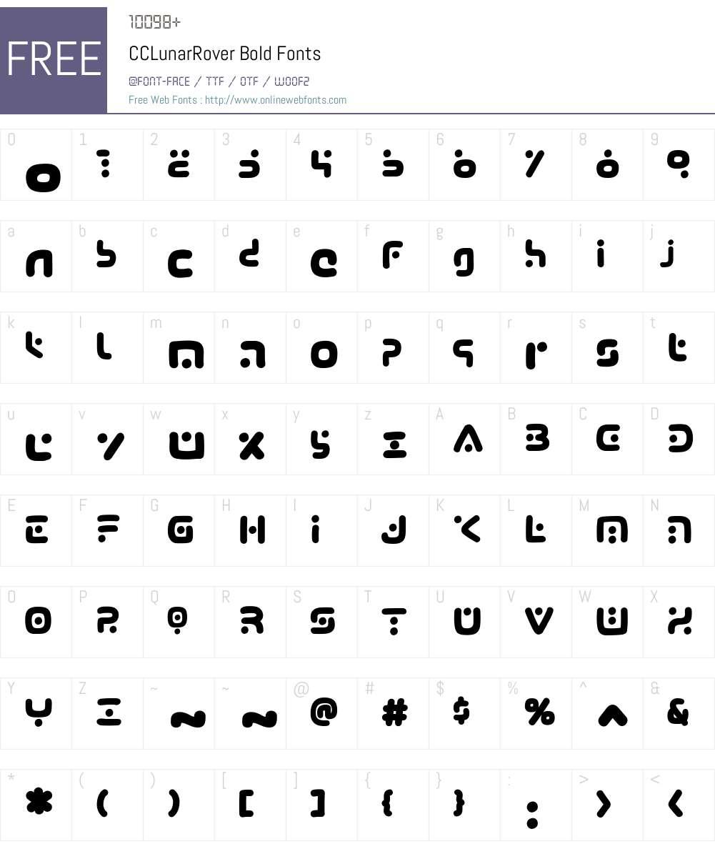 CCLunarRover-Bold Font Screenshots
