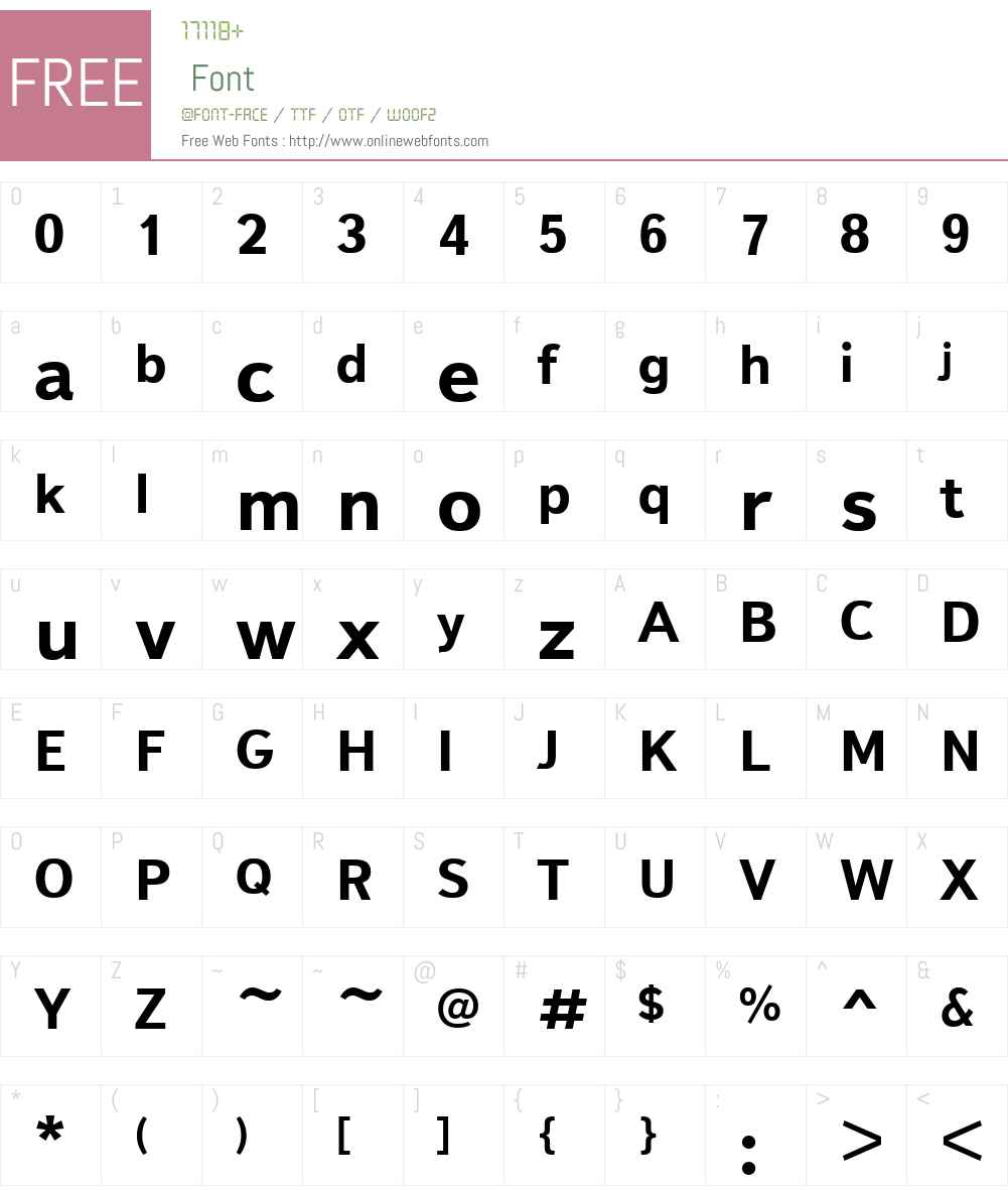 TextbookNewW01-Bold Font Screenshots