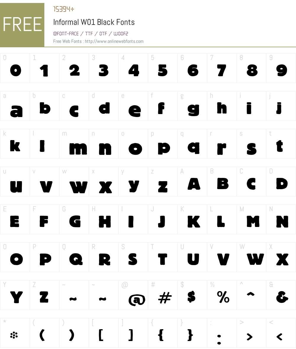InformalW01-Black Font Screenshots