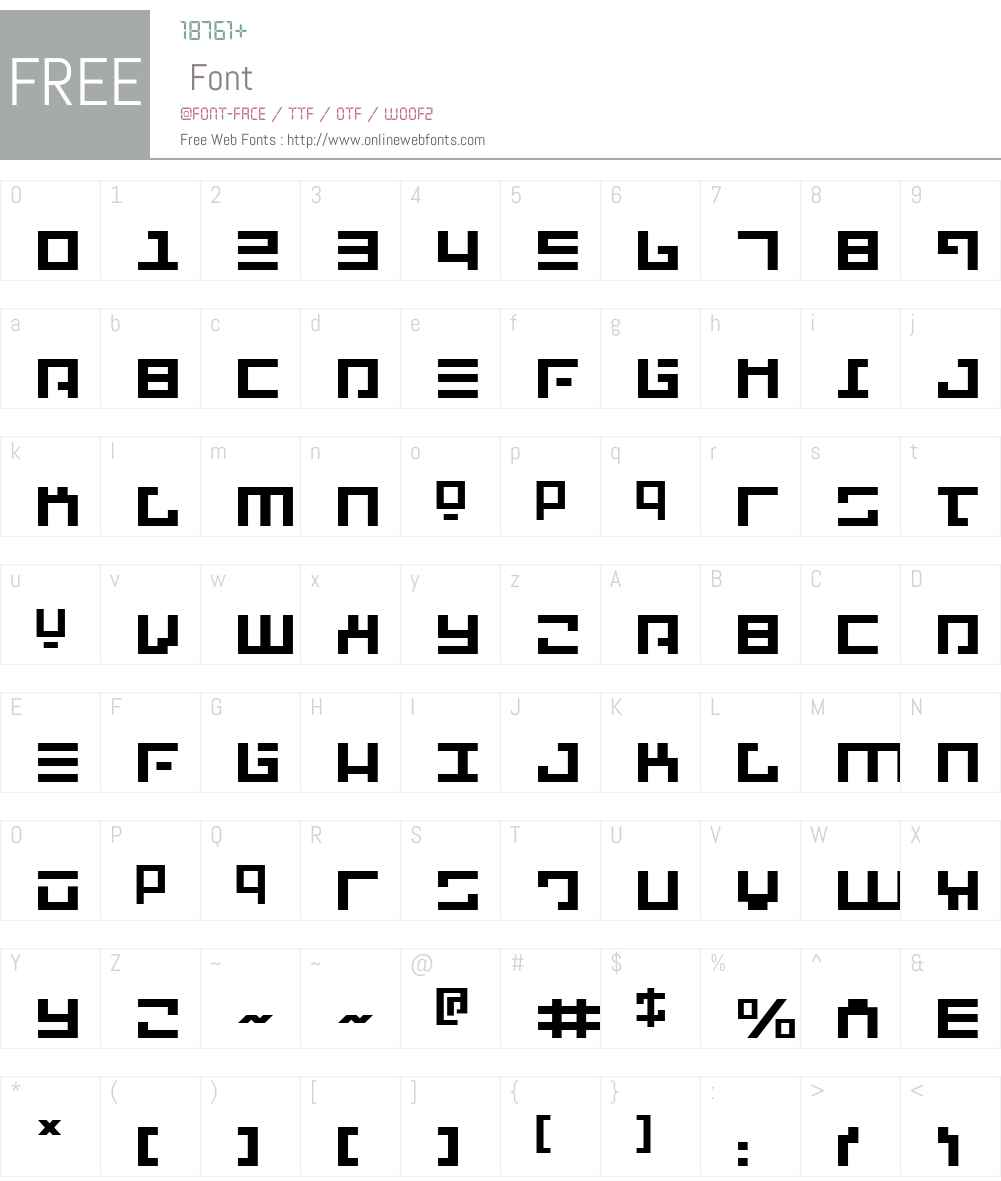 Repulsor Expanded Font Screenshots