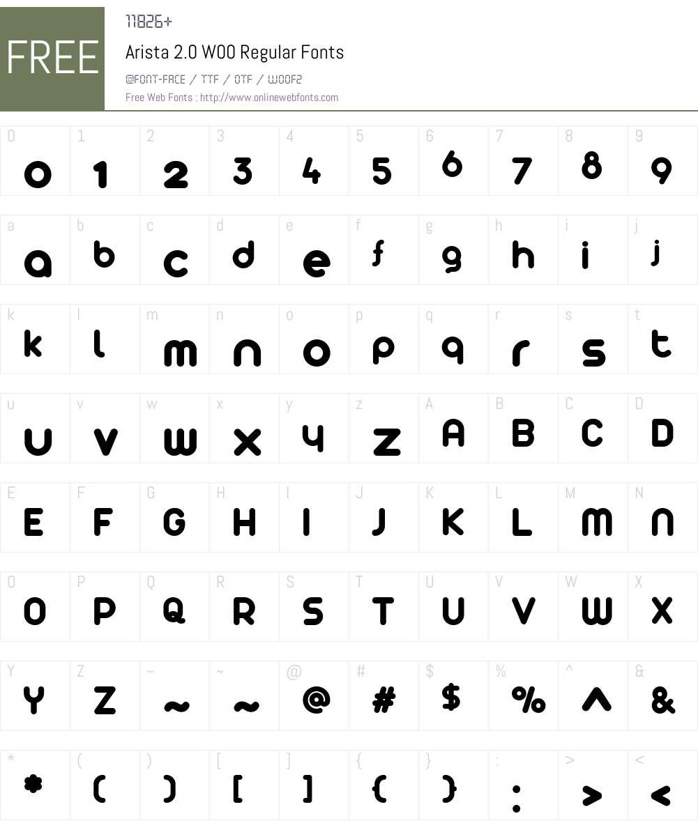Arista2.0W00-Regular Font Screenshots
