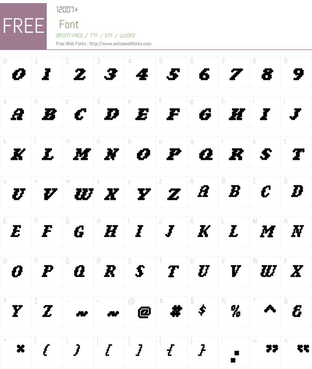 NarlyBold Font Screenshots