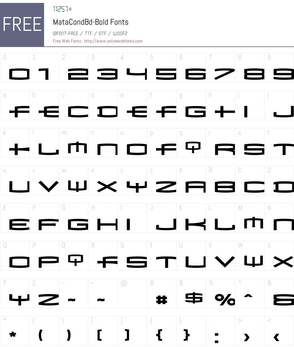 MataCondBd Font Screenshots