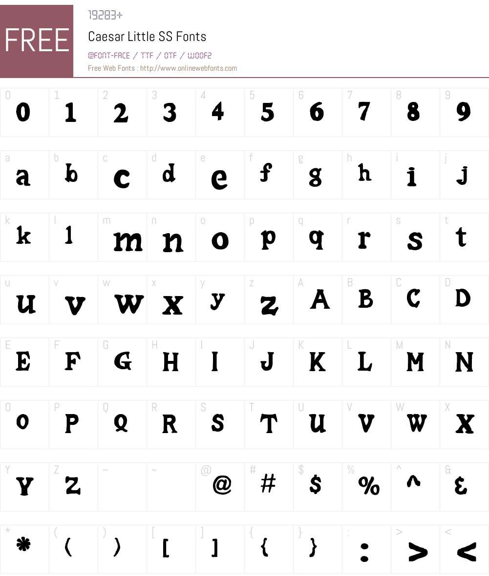 Caesar Little SS Font Screenshots