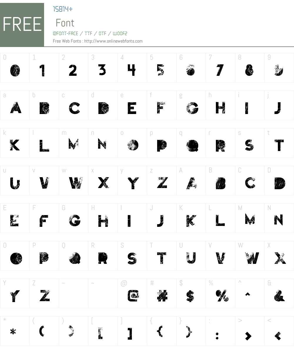 Truskey Font Screenshots