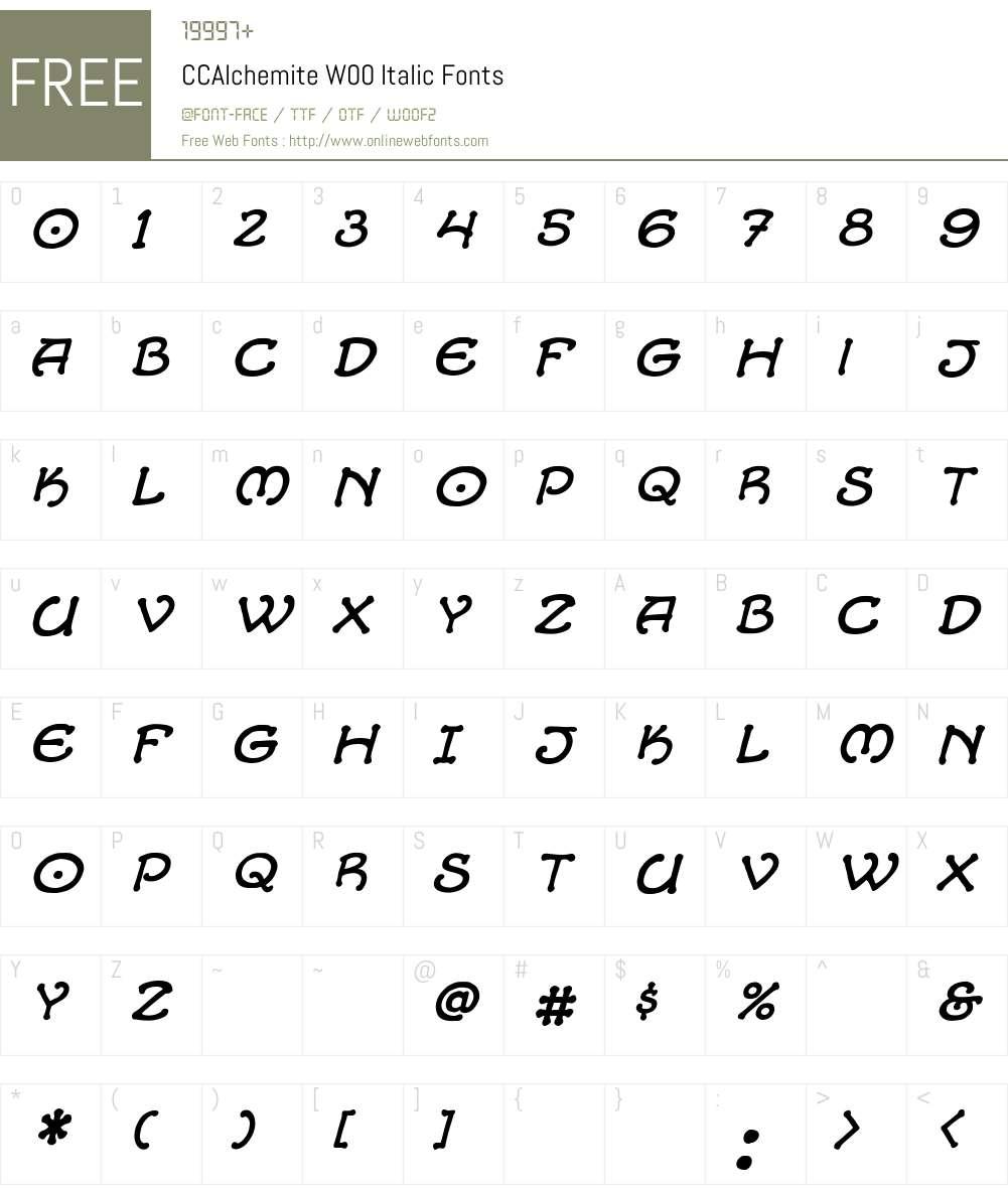 CCAlchemiteW00-Italic Font Screenshots