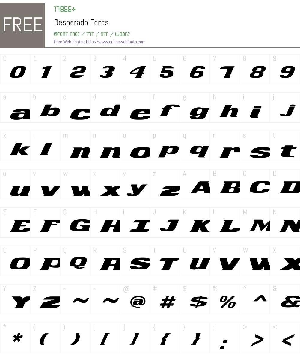 Desperado Font Screenshots