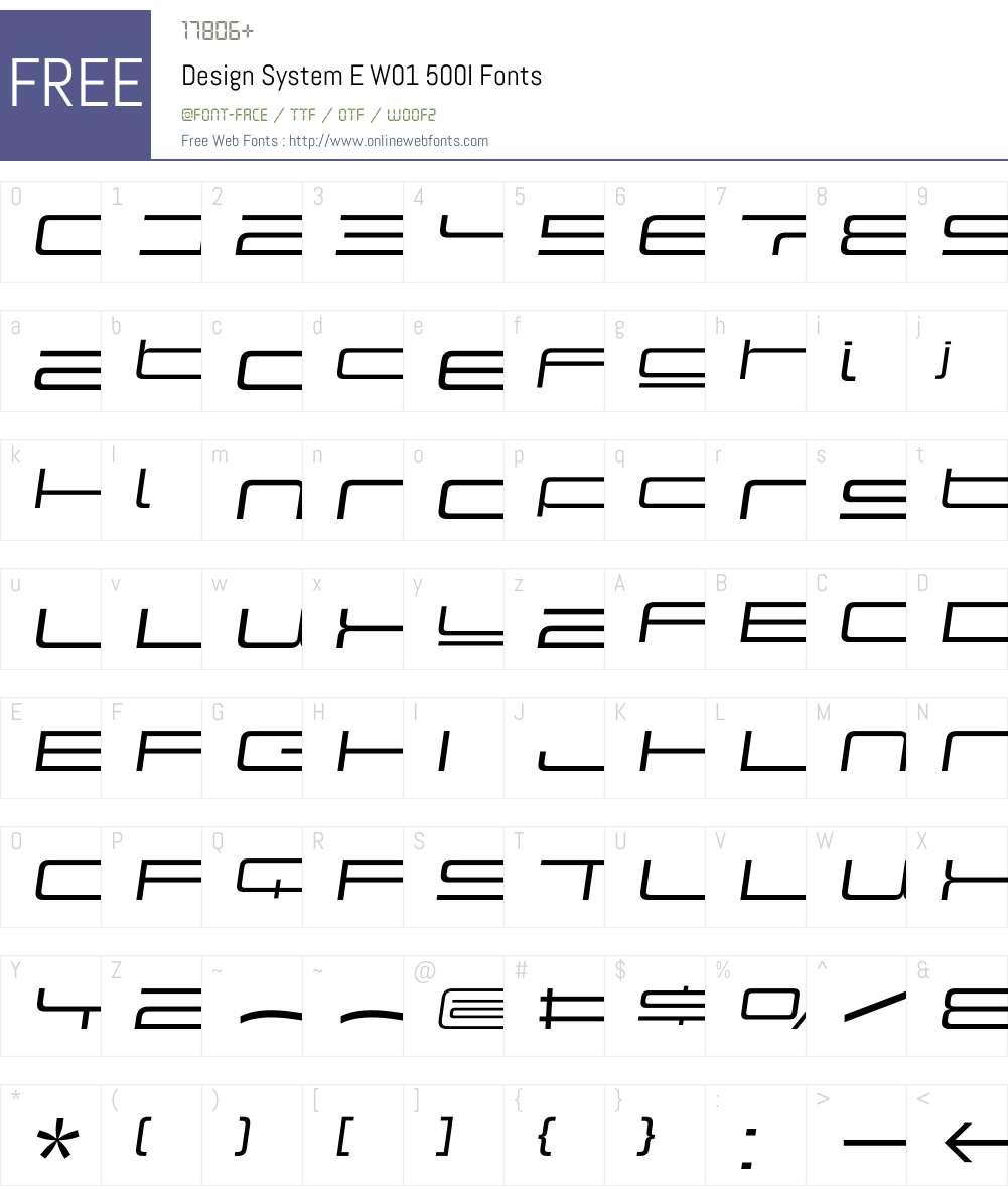 DesignSystemEW01-500I Font Screenshots