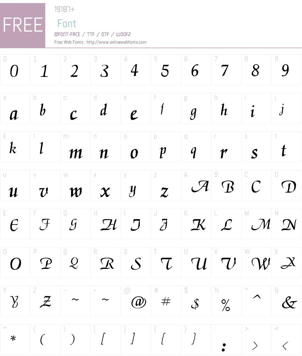 Deloise Font Screenshots