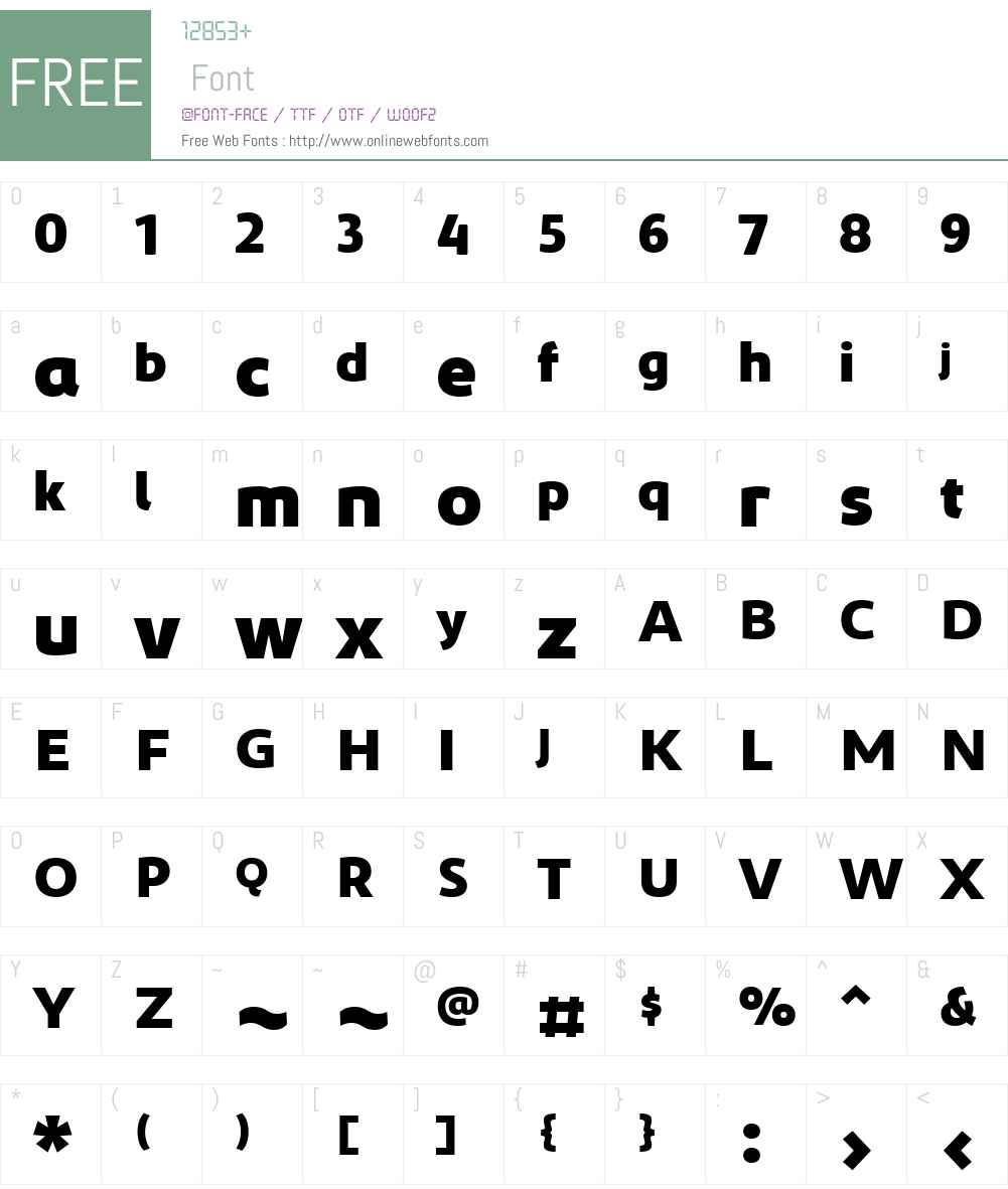 OnePlusOne 2015 Font Screenshots