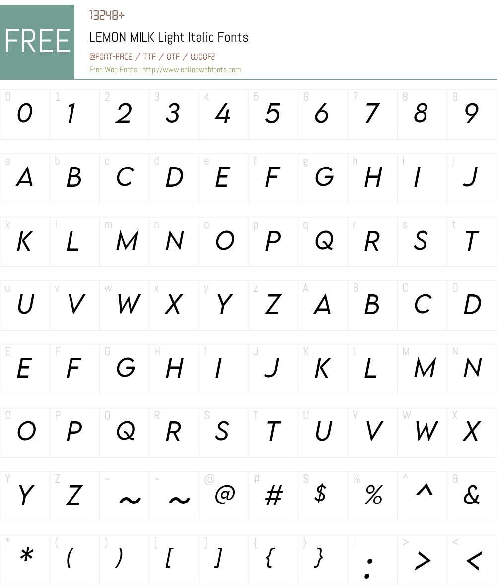 LEMON MILK Light Font Screenshots