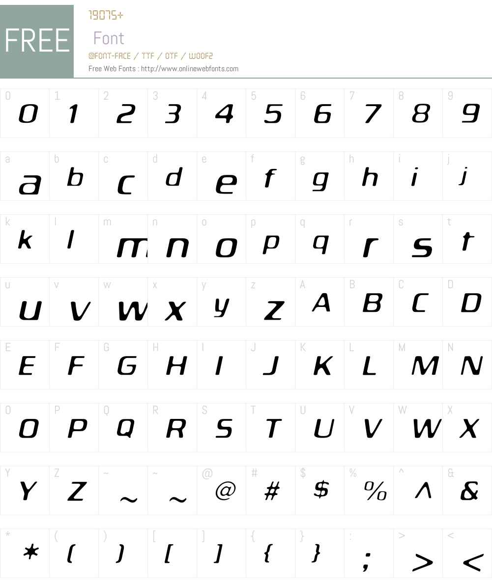 BiortecLightOblique Font Screenshots
