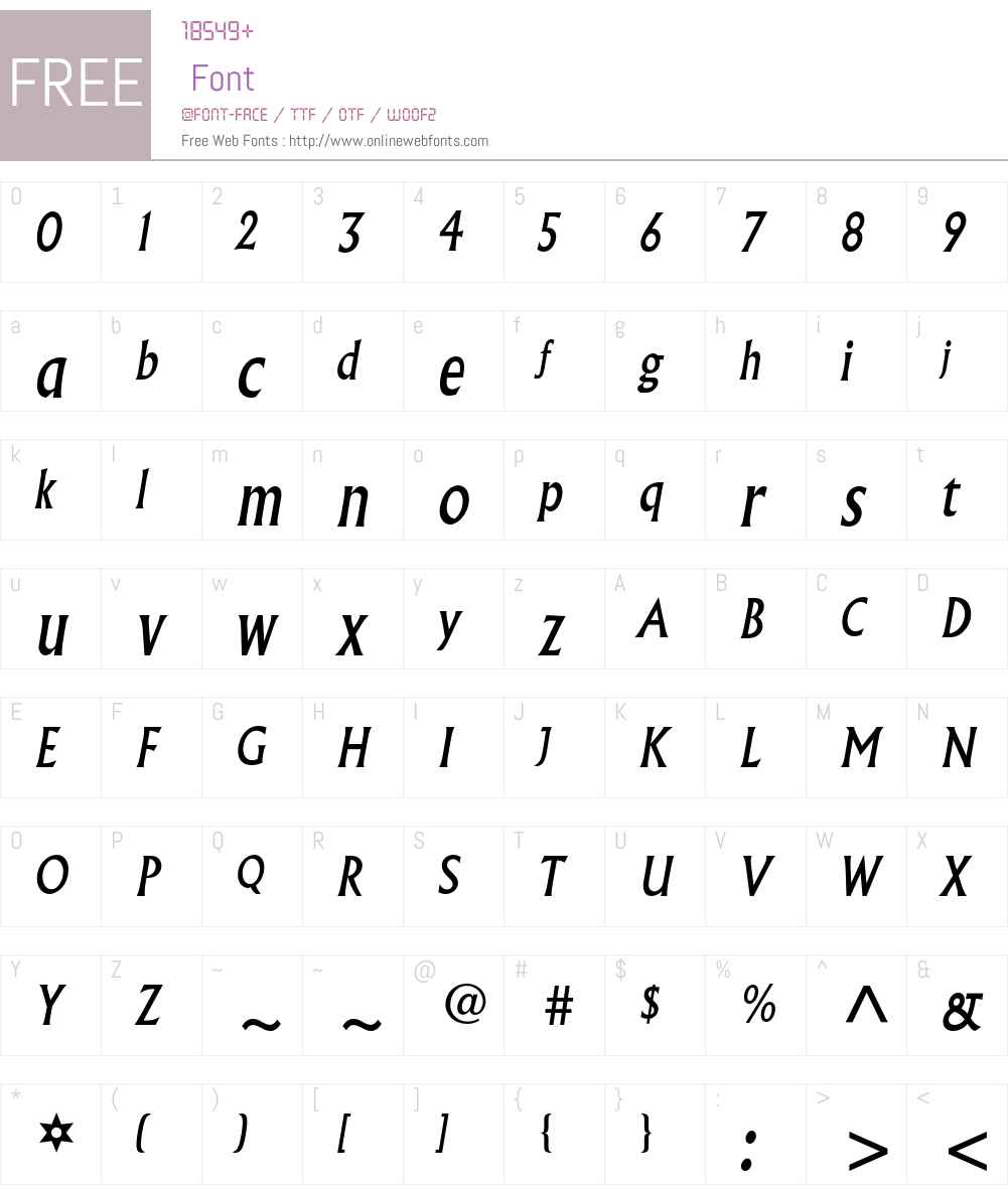 Albertus MT Std Font Screenshots