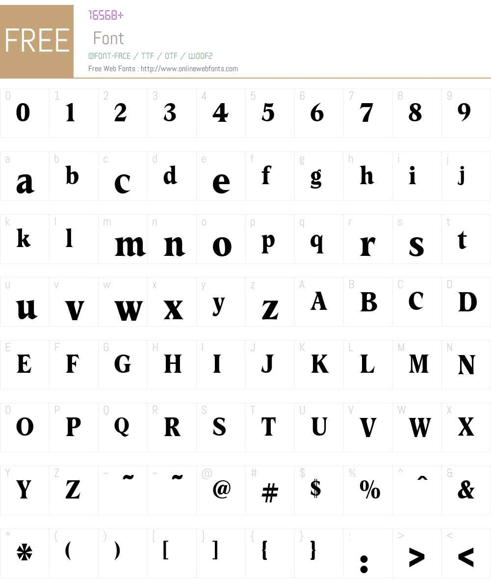 CrescentW90-Bold Font Screenshots