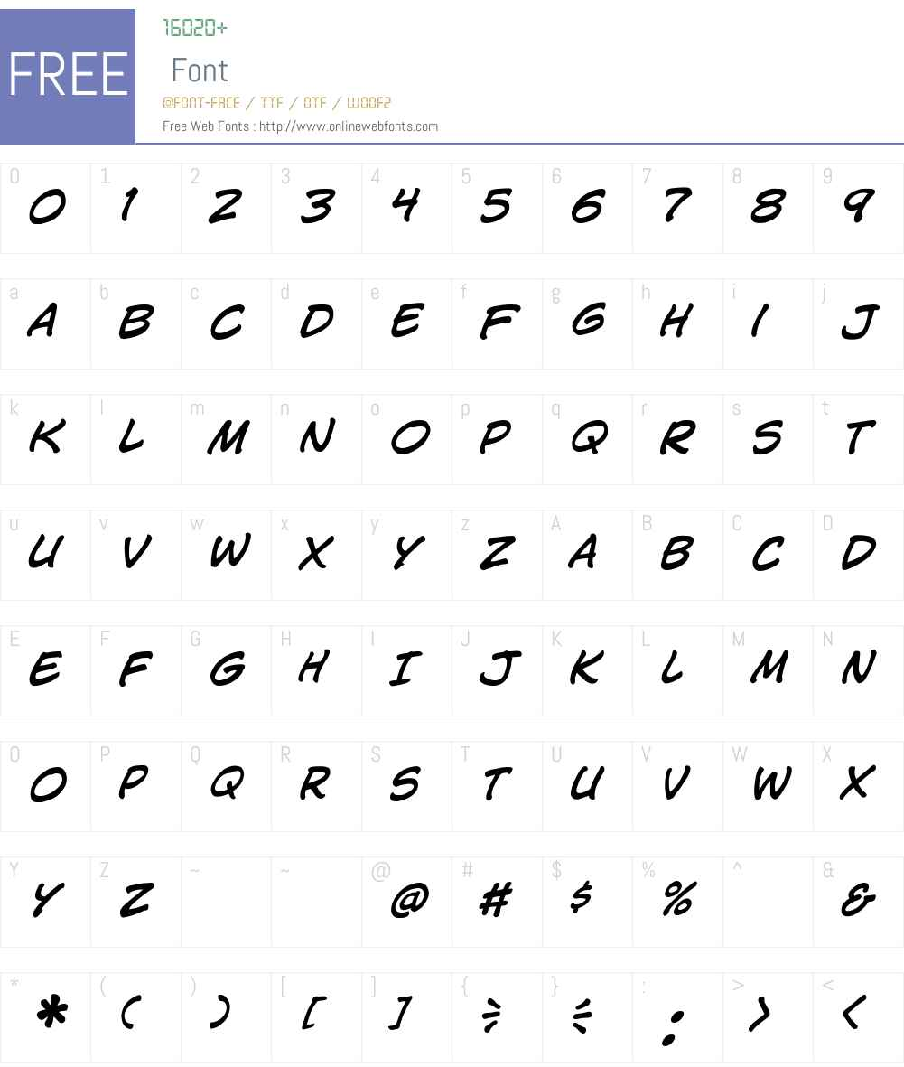 CCJimLee Font Screenshots