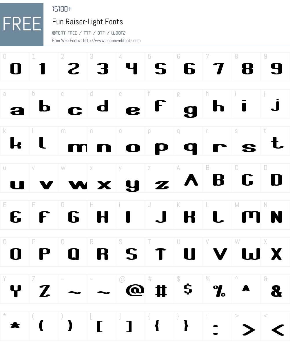Fun Raiser-Light Font Screenshots