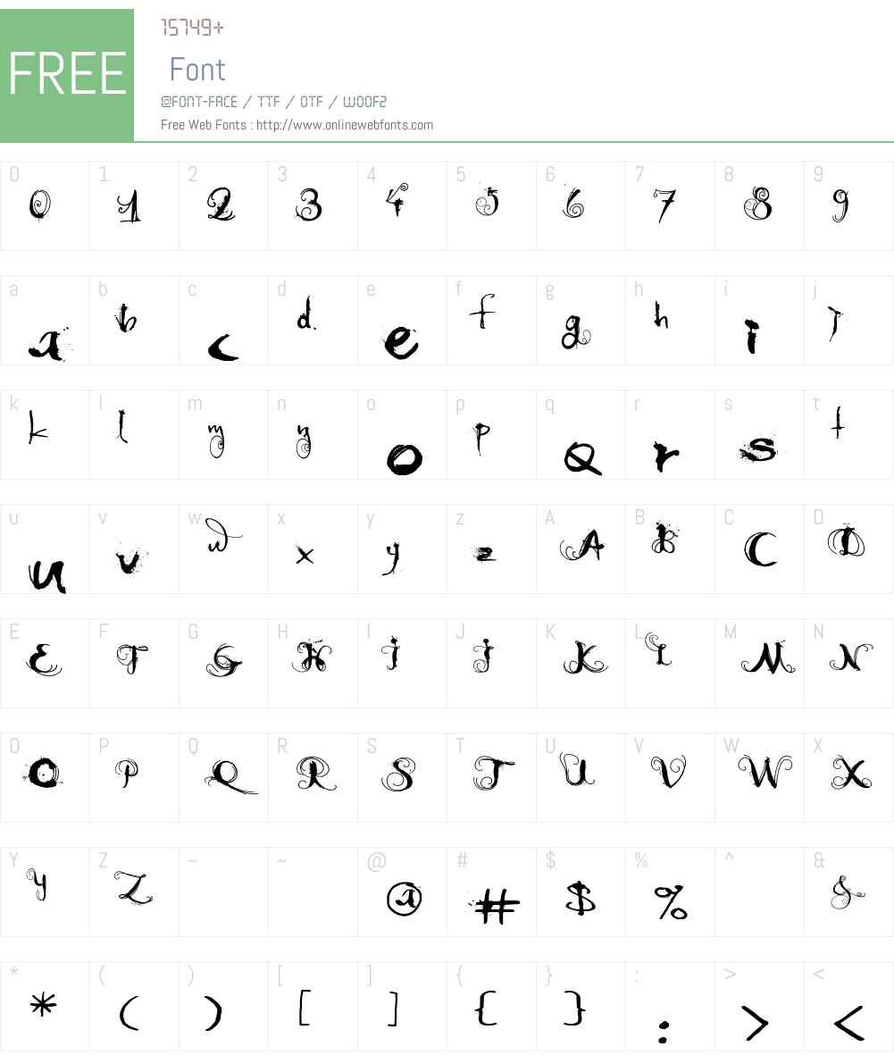 Moonlight Shadow Font Screenshots