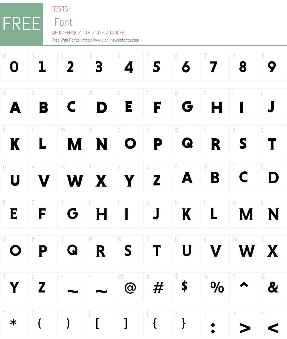 Niveau Serif Bold SC Font Screenshots