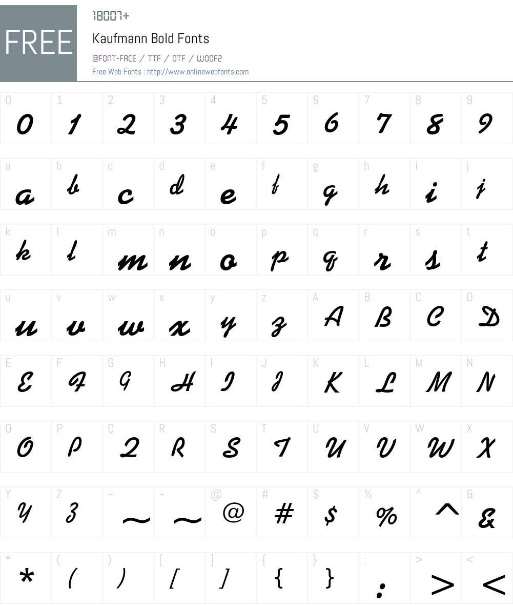 Kaufmann Font Screenshots