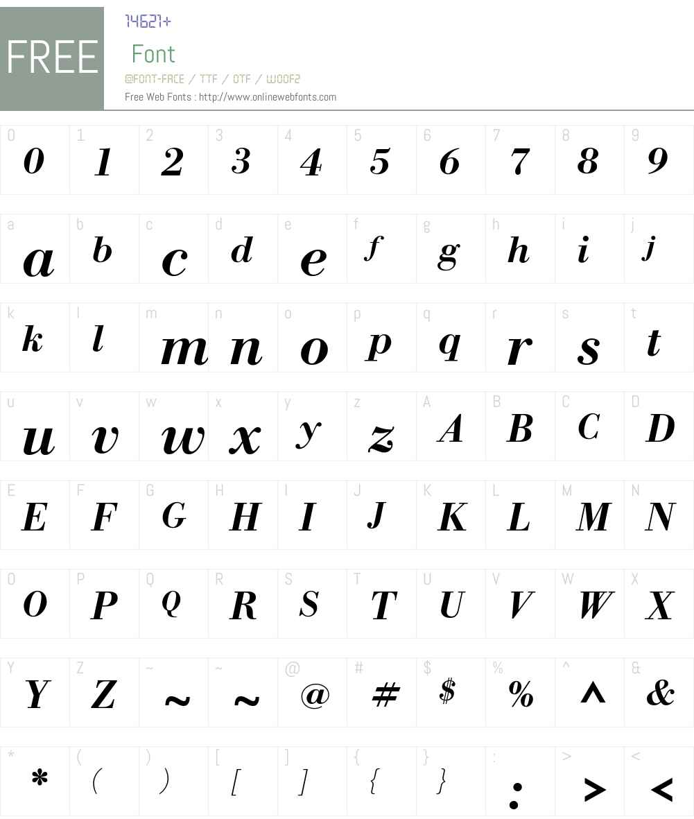 WTC Our Bodoni Font Screenshots