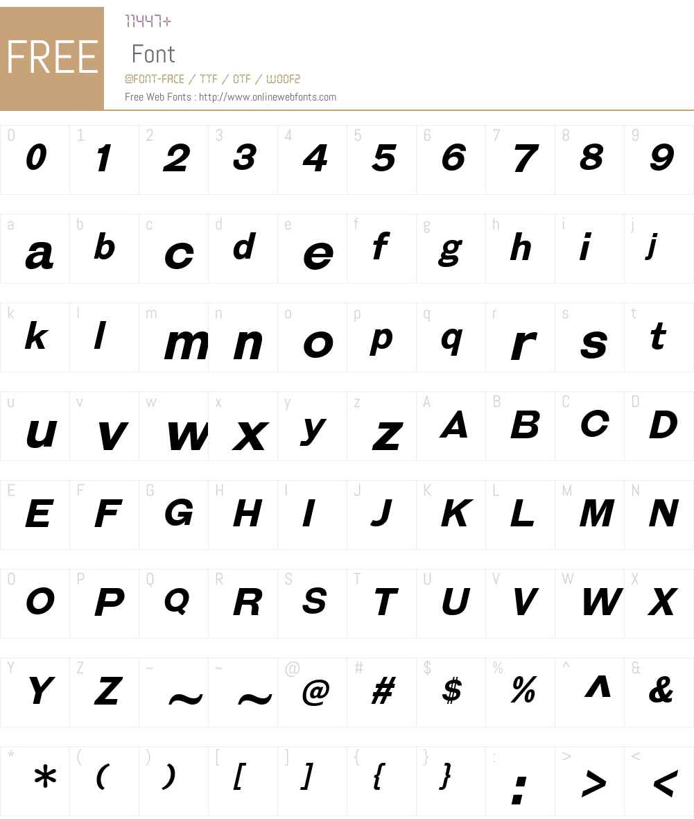 GalderglynnEsquireW00-BdIt Font Screenshots
