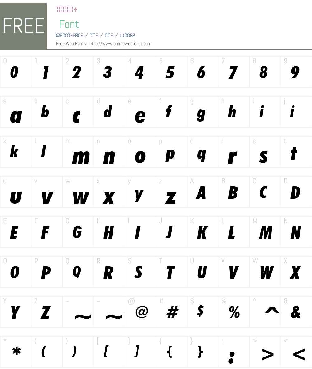 FuturaBTW01-CdXBlackItalic Font Screenshots