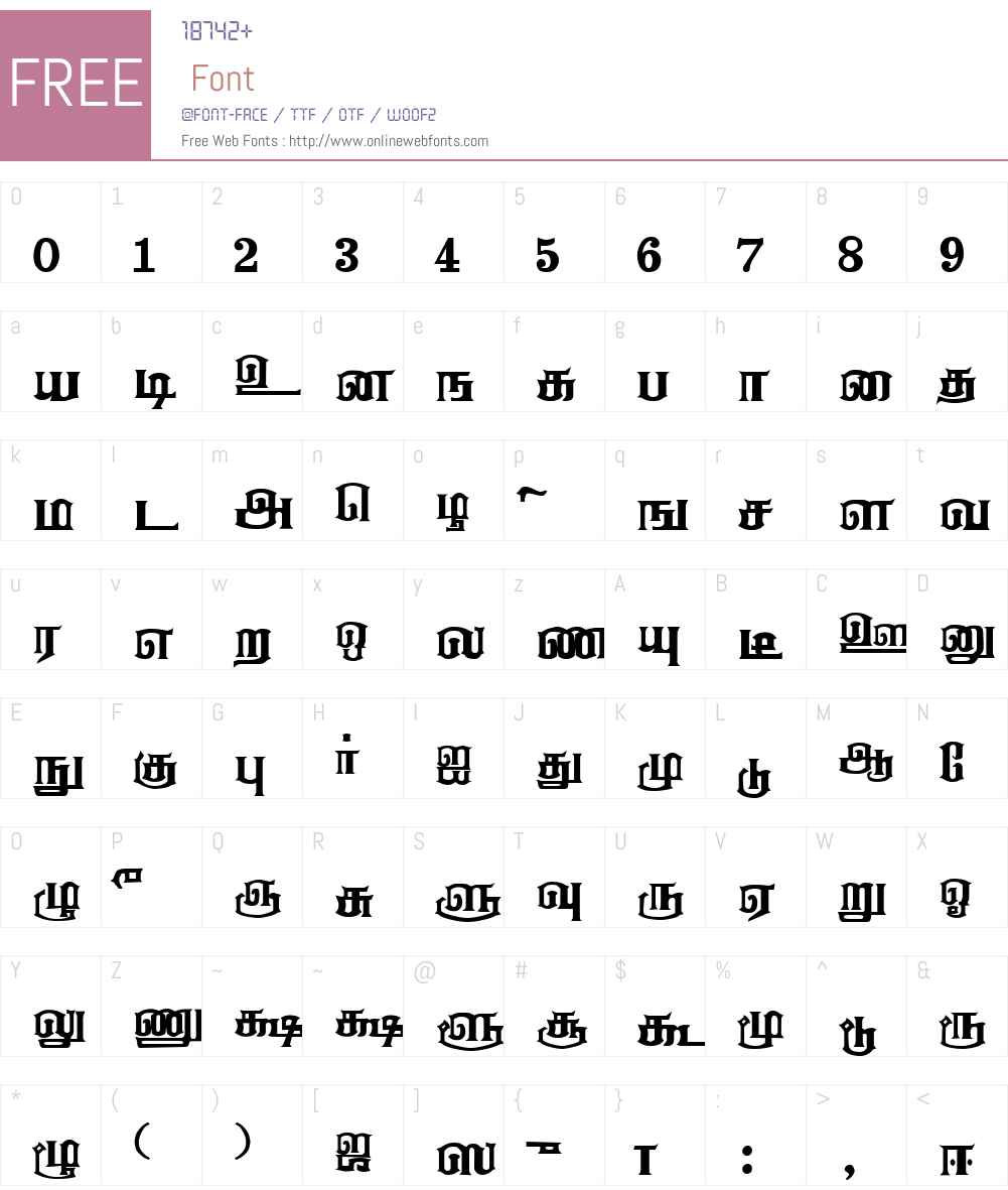Anantha_Shanmugathas Font Screenshots