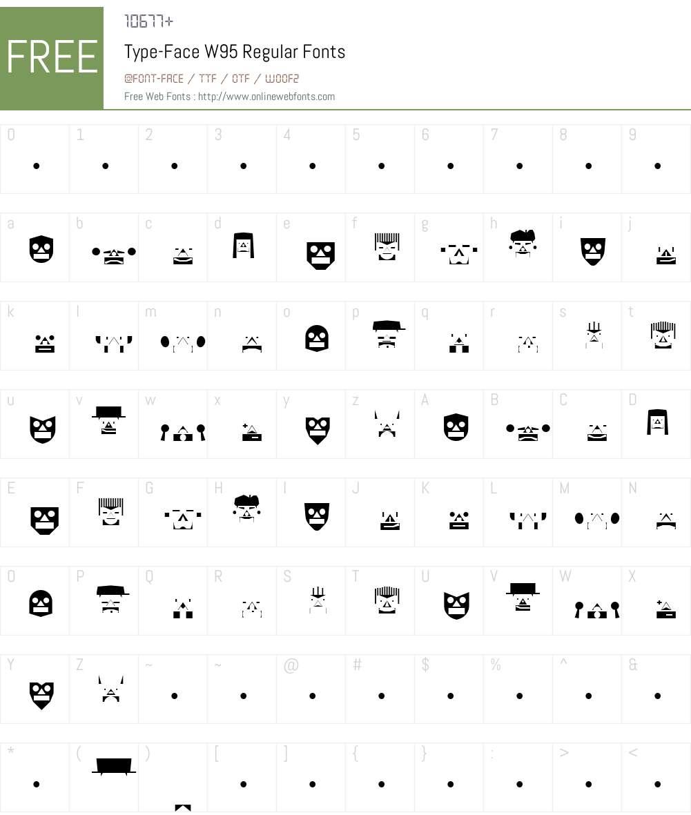 FF Type-Face Font Screenshots