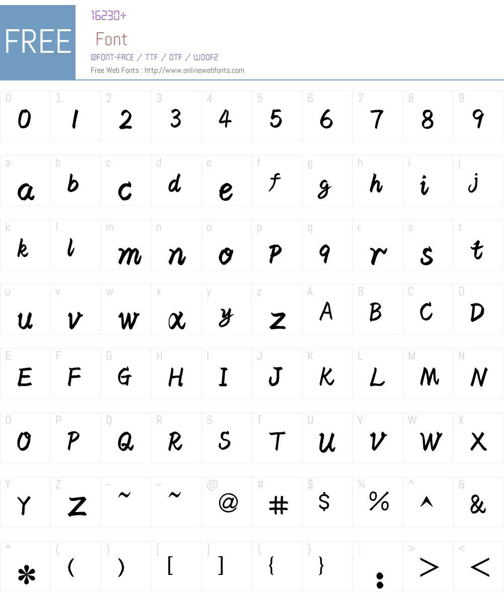 HY Xueun Simplified Chinese Font Screenshots