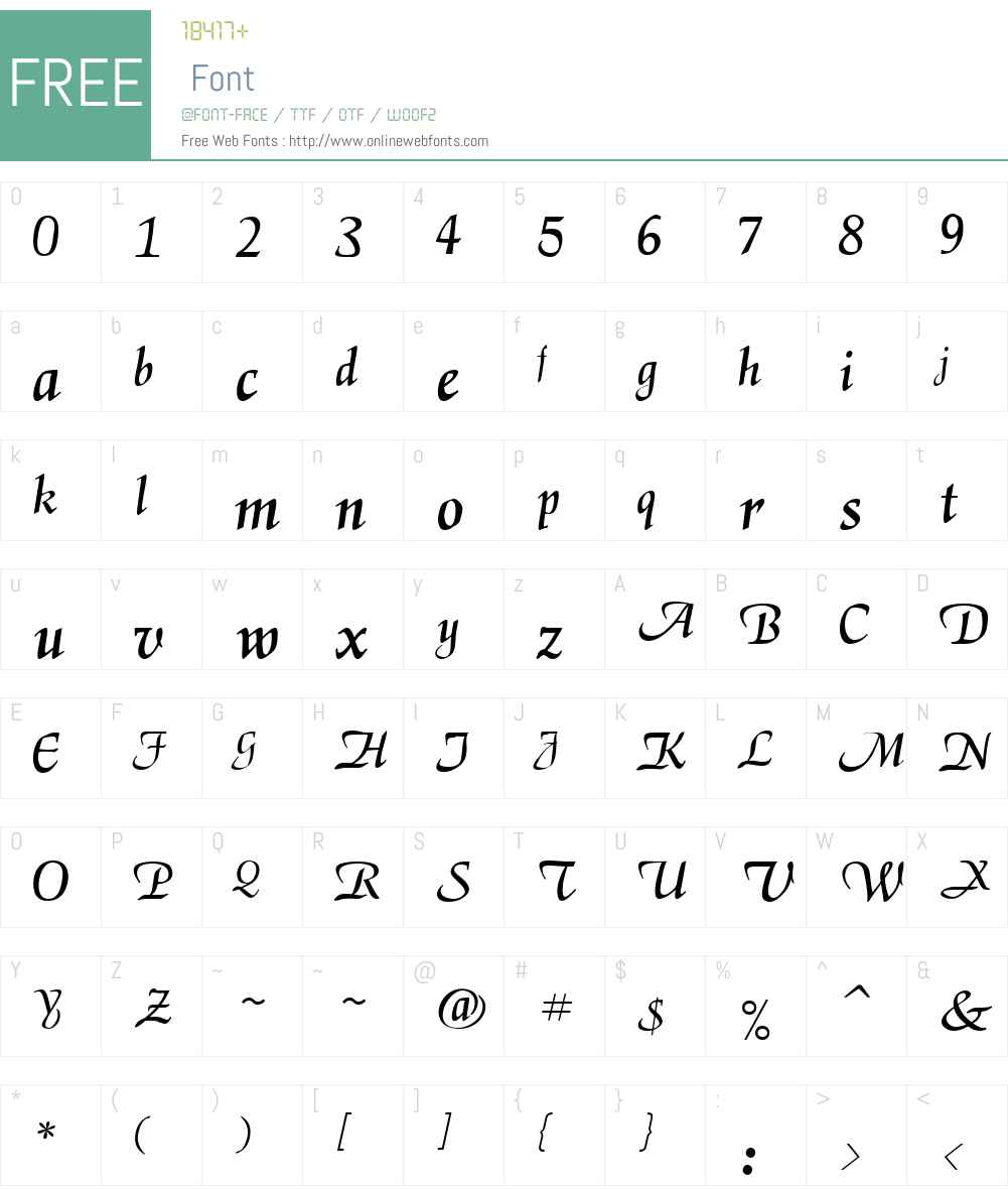 RSElGarrett Font Screenshots