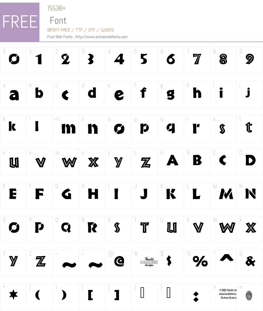BrideDemo Font Screenshots