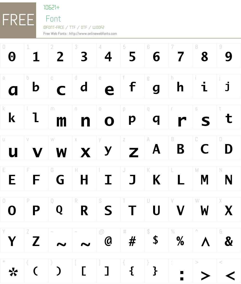 LucidaMonoEF Font Screenshots