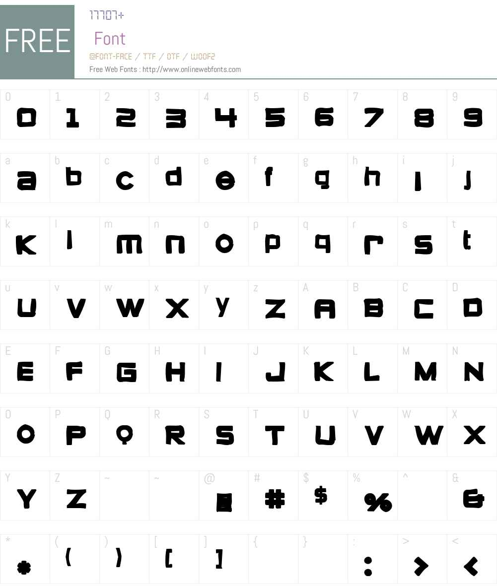 Zeroes Ink Font Screenshots
