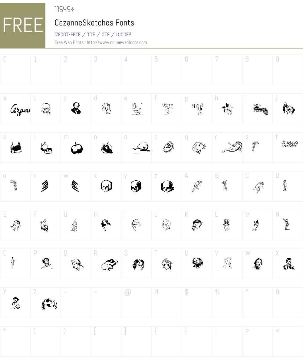 Cezanne Font Screenshots