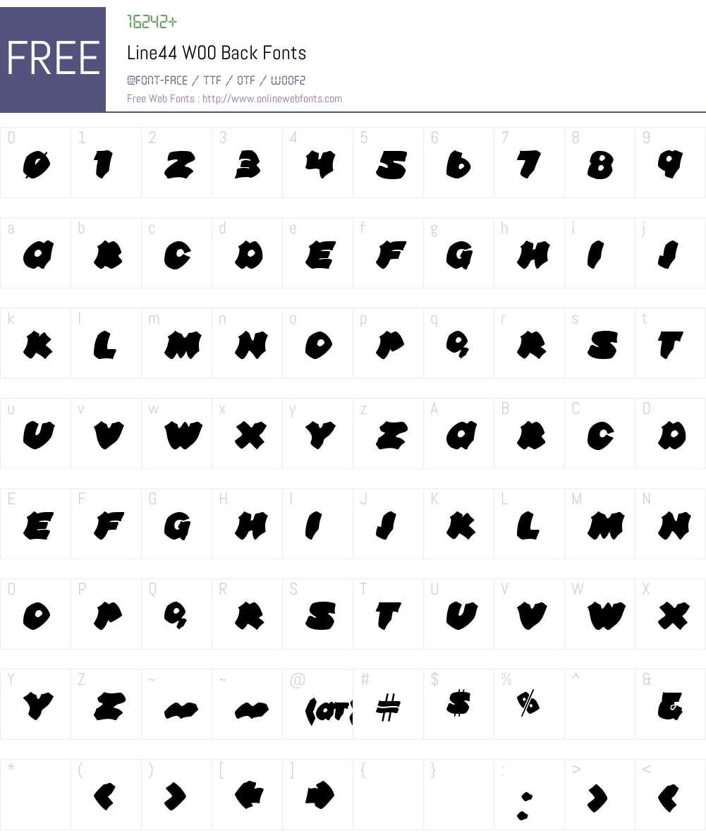 Line44 Font Screenshots