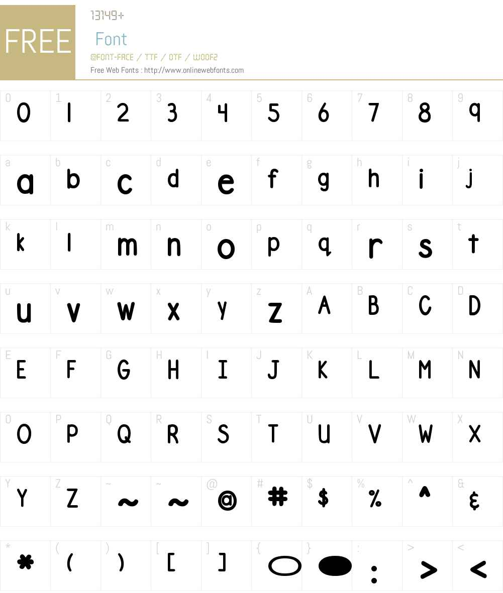 DJB Number 2 Pencil Bold Font Screenshots