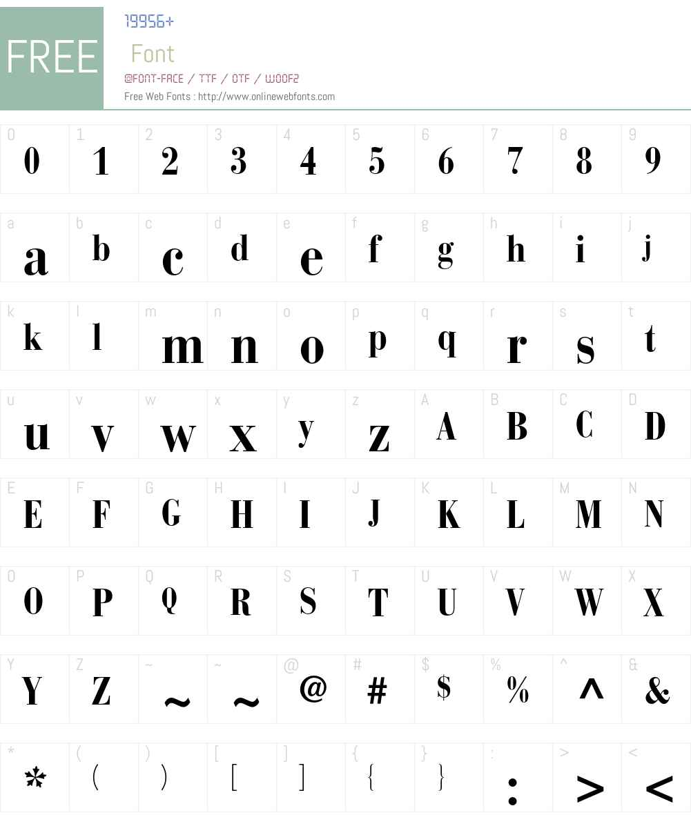 BauerBodoni Font Screenshots