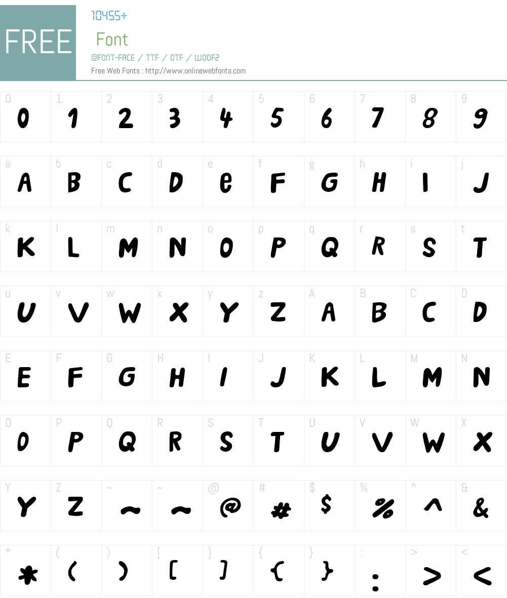 CAPartyRebelW00-Bold Font Screenshots