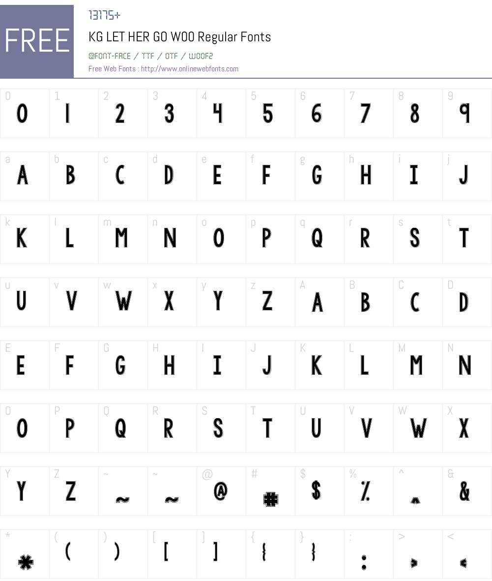 KGLETHERGOW00-Regular Font Screenshots