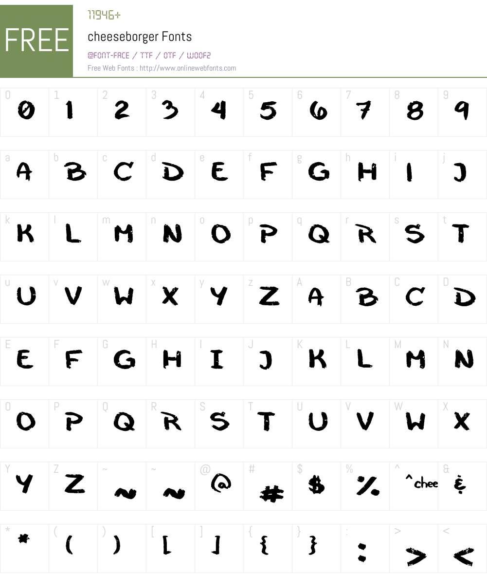 cheeseborger Font Screenshots