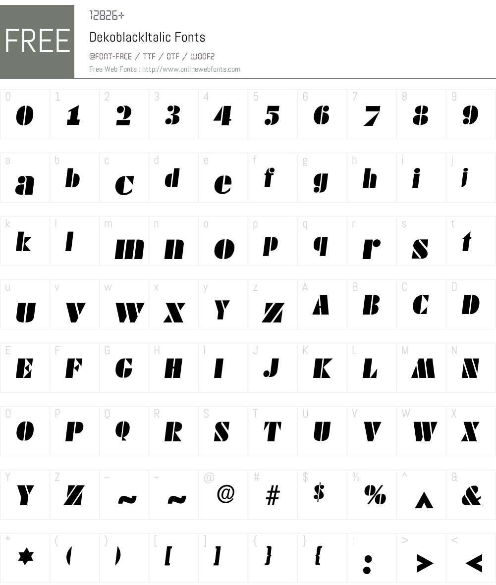 Dekoblack Font Screenshots