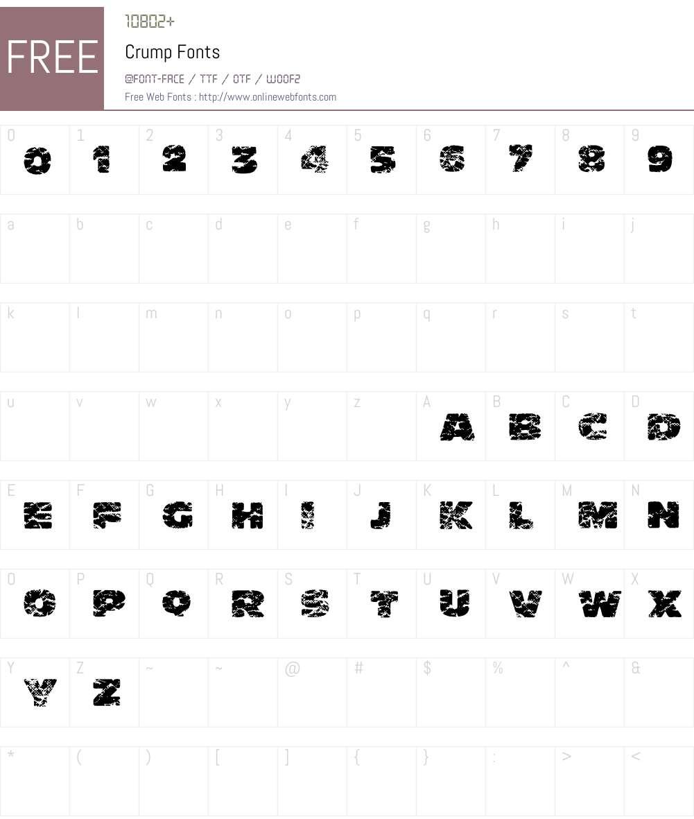Crump Font Screenshots