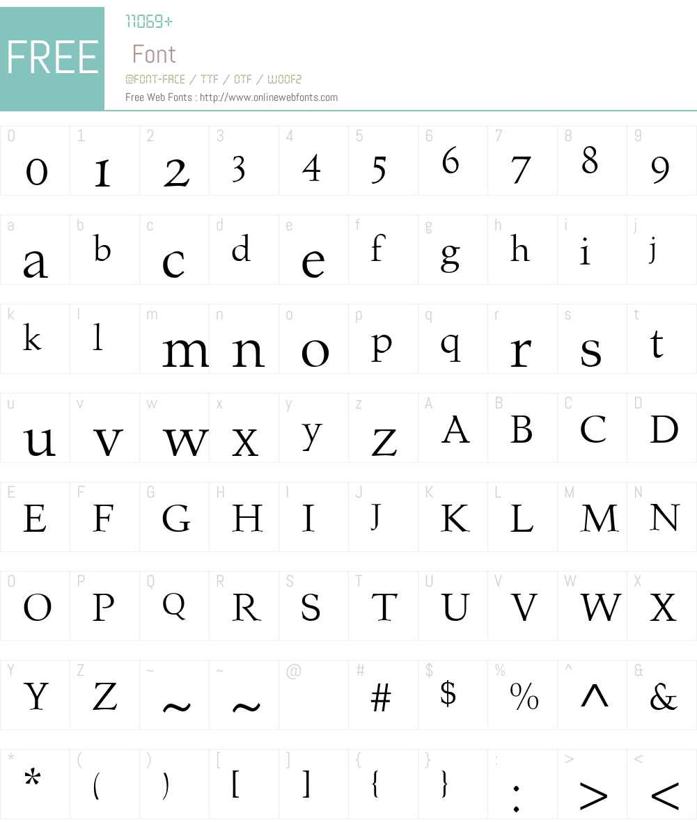 Prospero Font Screenshots