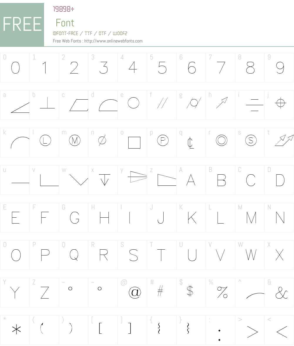 GDT Font Screenshots
