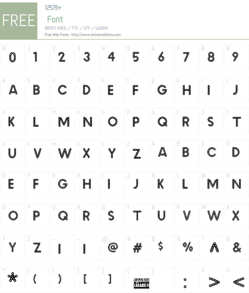 Malache Crunch Font Screenshots