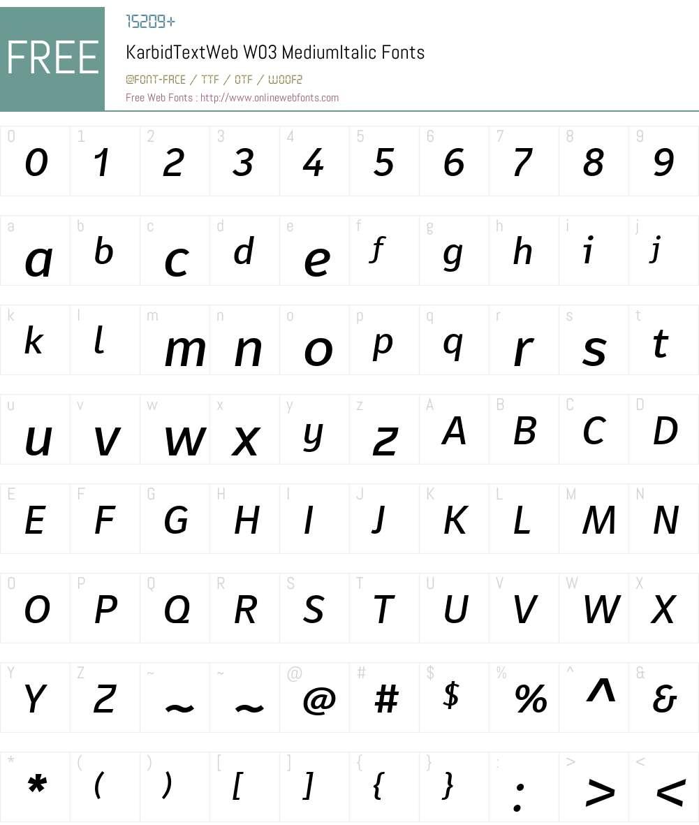 FF Karbid Text Font Screenshots