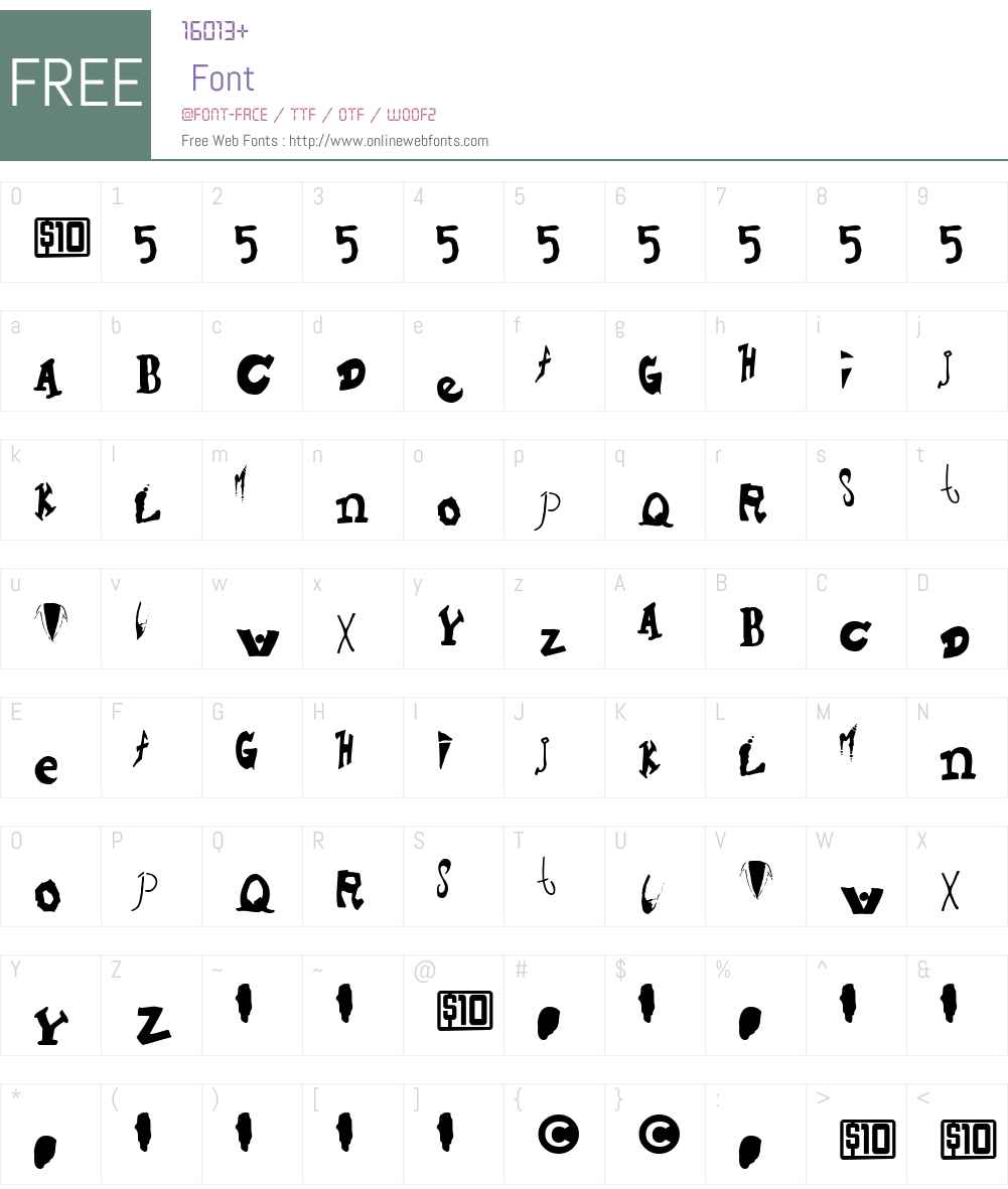 Hieronymous Font Screenshots