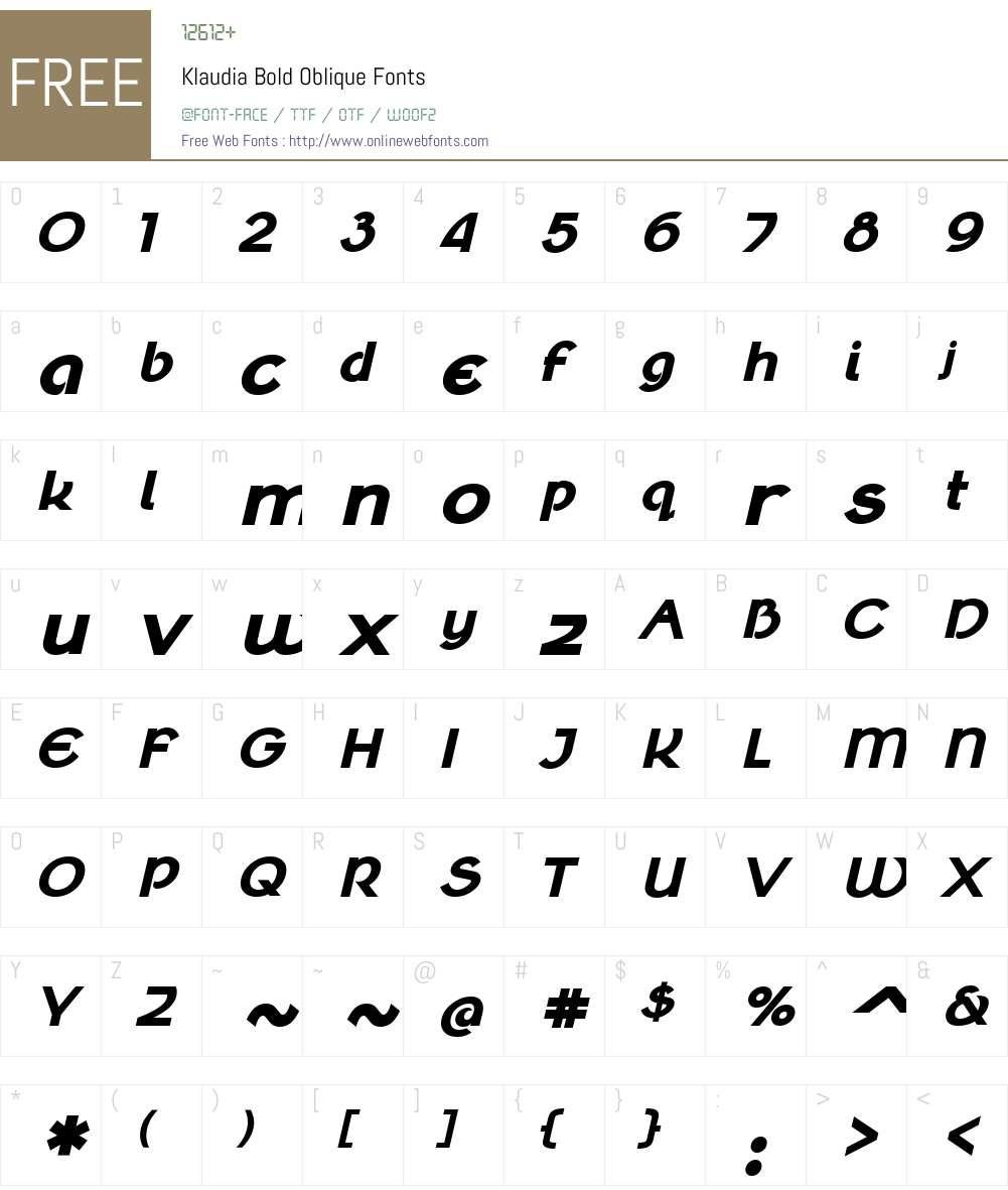 Klaudia Font Screenshots