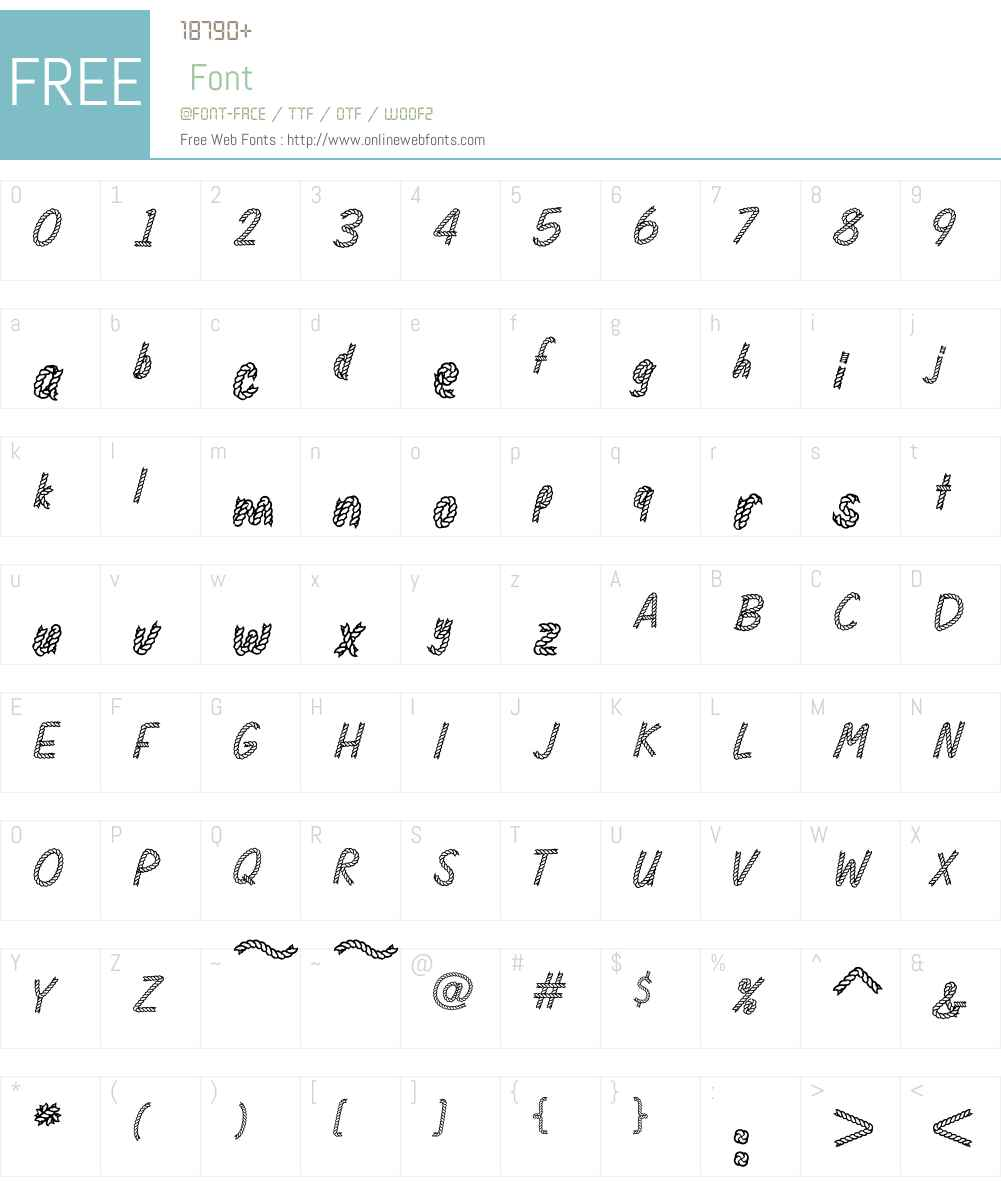 Rodeo Rope Superchunk Font Screenshots